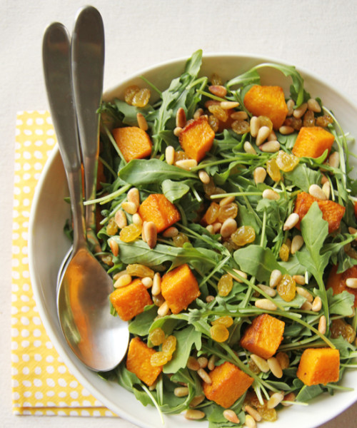 Butternut, Arugula and Pine Nut Salad