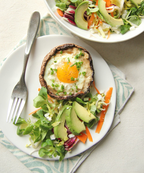 Parmesan and Portobello Baked Eggs