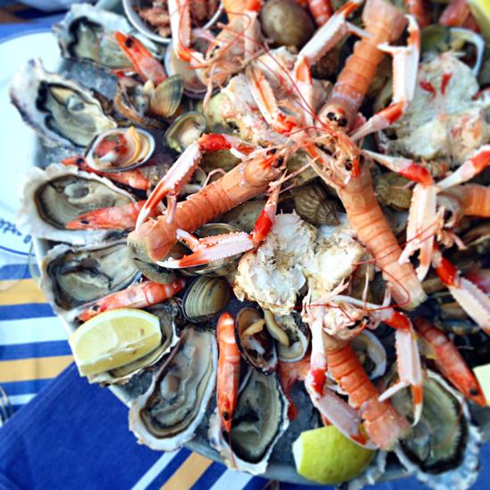 Biarritz plateau de fruits de mer