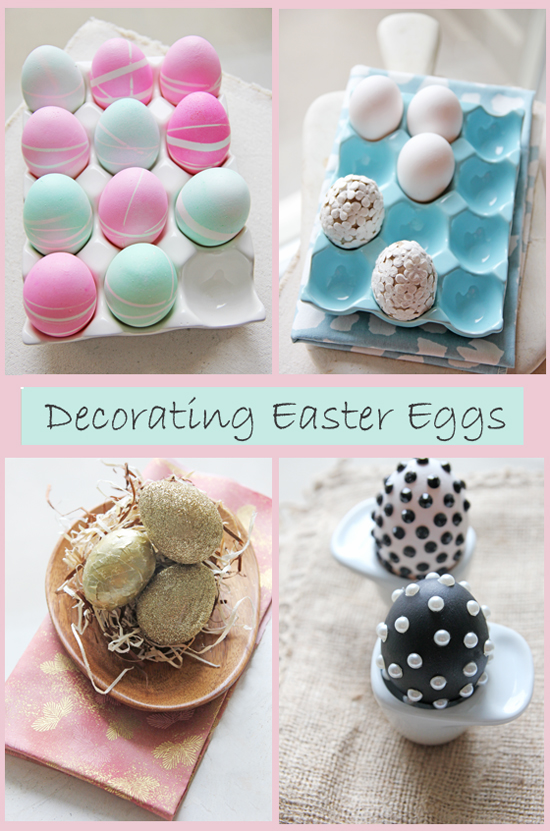 Diy easter egg decor chocolate shavings for Diy easter room decor
